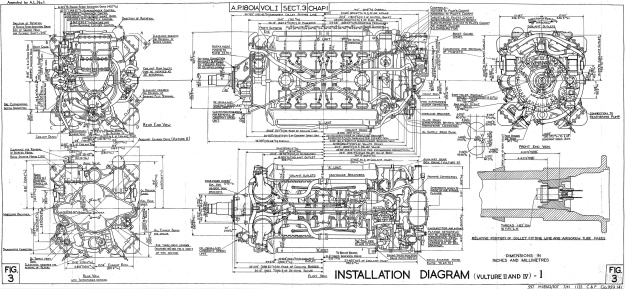 Rolls-Royce-Vulture-II-IV-Installation-Drawing