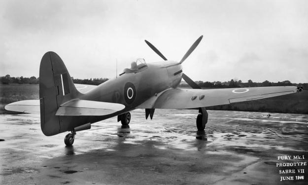 Hawker-Fury-Sabre-LA610-rear