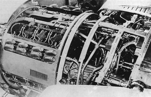 Junkers-Jumo-222-AB-installtion